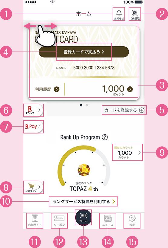 大丸・松坂屋アプリの機能説明